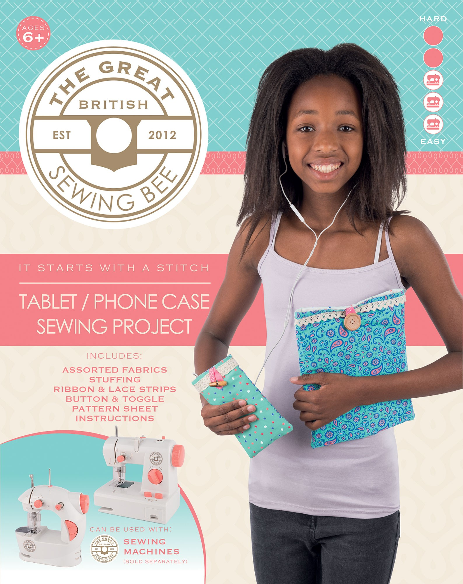 Great British Sewing Bee Phone Case Kit