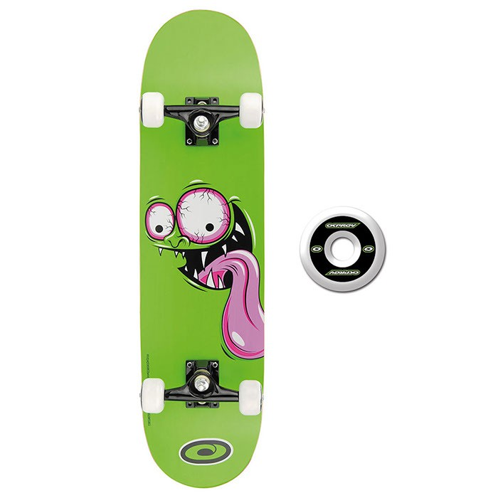 TY4434B - Toyrific Osprey Skateboard for Kids in Green with Face 7 Ply Construction