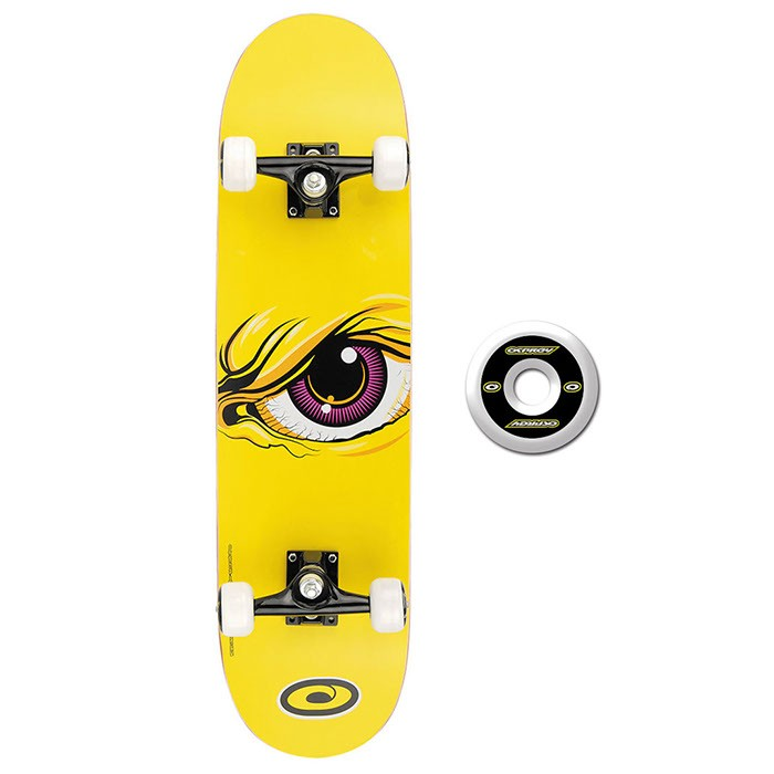 TY4434D - Toyrific Osprey Skateboard for Kids in Yellow with Eye 7 Ply Construction