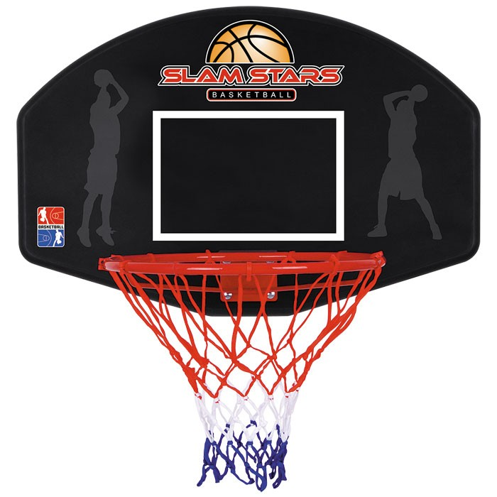 TY4833 - Toyrific Slam Stars Kids Basketball Hoop Net & Backboard for Wall
