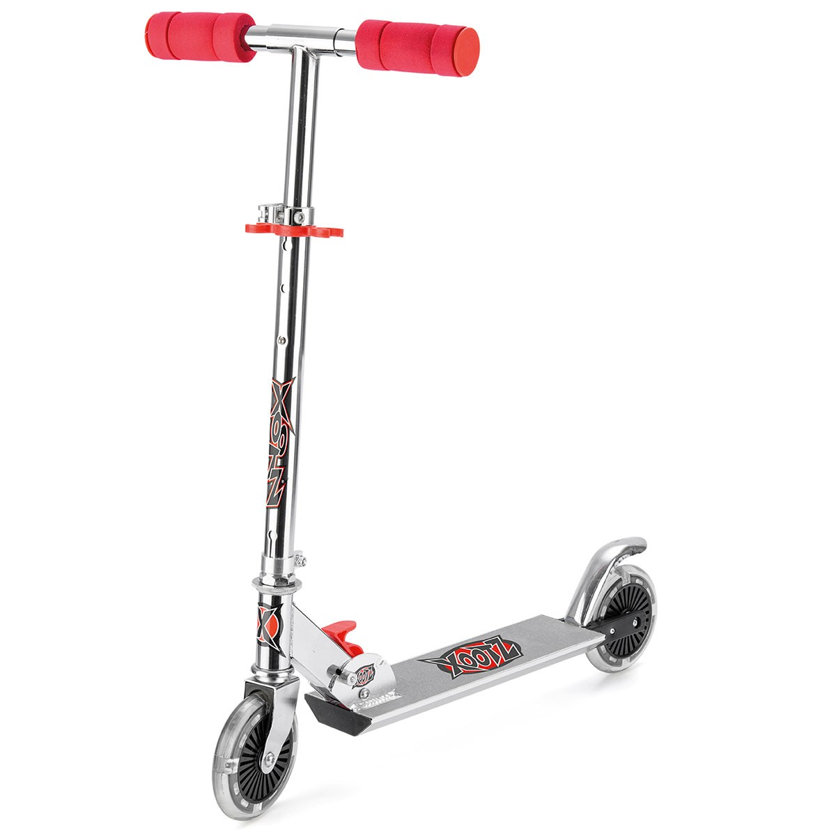 Xootz Folding Scooter with LED Wheels -Red