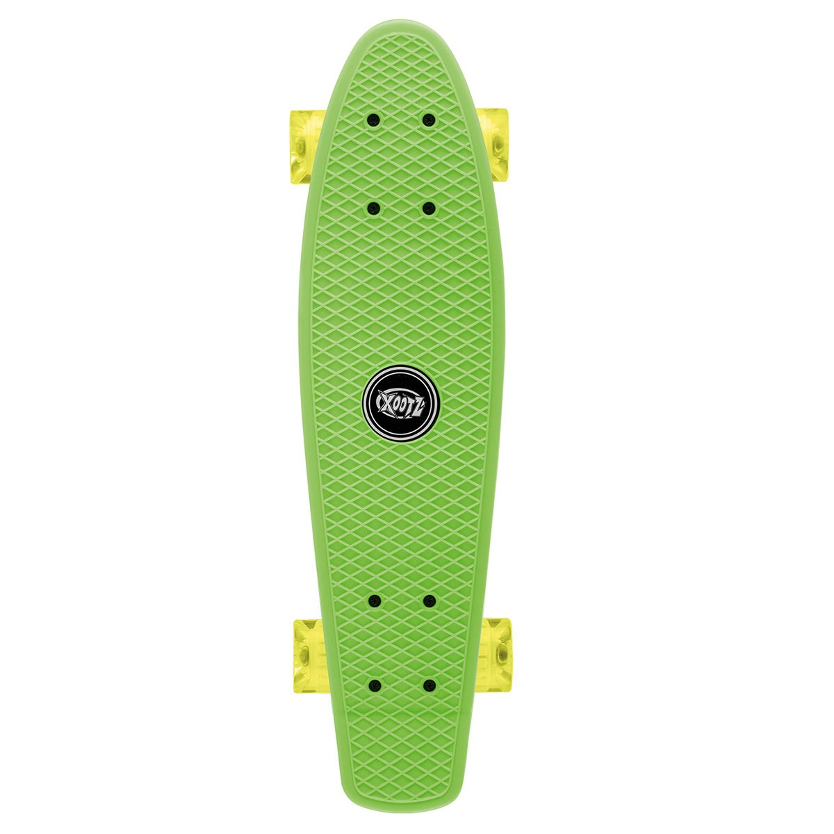 Xootz Plastic Skateboard with LED Wheels -Green