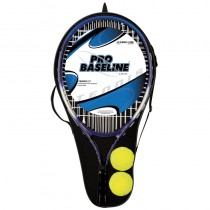 Pro Baseline Pair of Aluminum Tennis Rackets & Tennis Balls