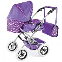 TY3292 - Toyrific Realistic Dolls Carry Cot in Pink & Purple by Snuggles