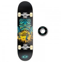 TY4219D - Toyrific Osprey Skateboard for Kids in Black with Tribal Warrior 7 Ply Construction