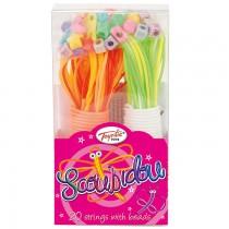 100 String Scoubidou & Beads