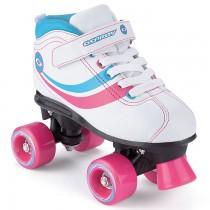 TY5353-63 - Toyrific Osprey Retro Roller Disco Skates In White & Pink