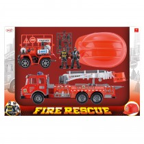 Fire Rescue Friction Fire Engine Set 1