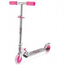 Xootz Folding Scooter with LED Wheels -Pink
