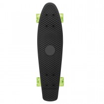 Xootz Plastic Skateboard with LED Wheels -Black