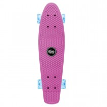 Xootz Plastic Skateboard with LED Wheels -Pink